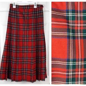 Pendleton Virgin Wool Pleated Plaid Skirt Maxi